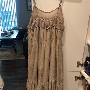 Dresses - Tan ruffles boutique dress